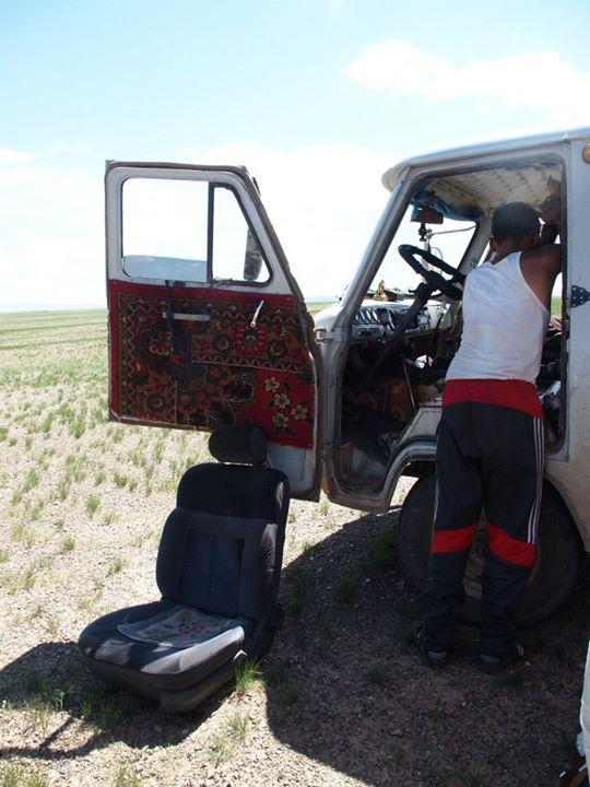 Autopanne Mongolei