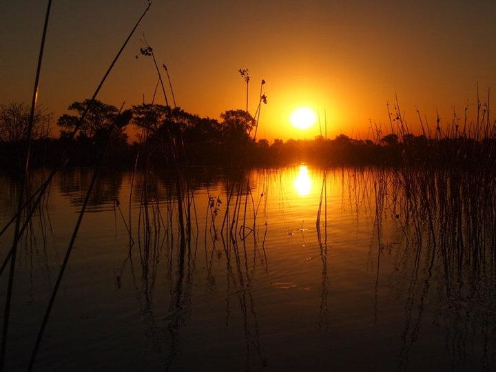 Sonnenuntergang Okavango