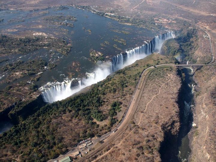 Viktoriafälle Luftaufnahme Sambia
