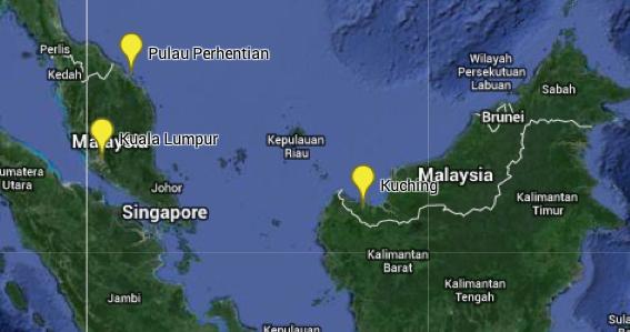 Weltreise Karte Malaysia