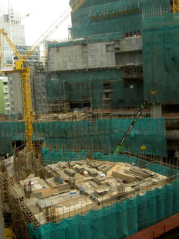 Hong Kong Baustelle