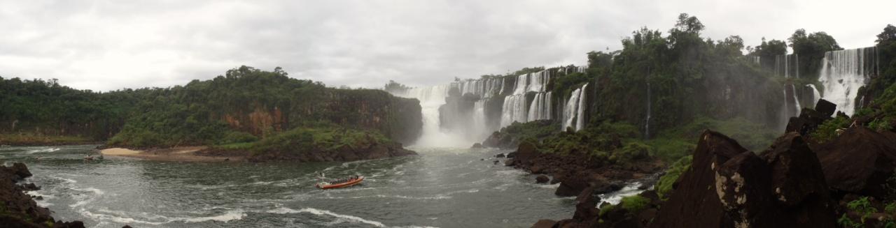 iguazu wasserfälle panorama