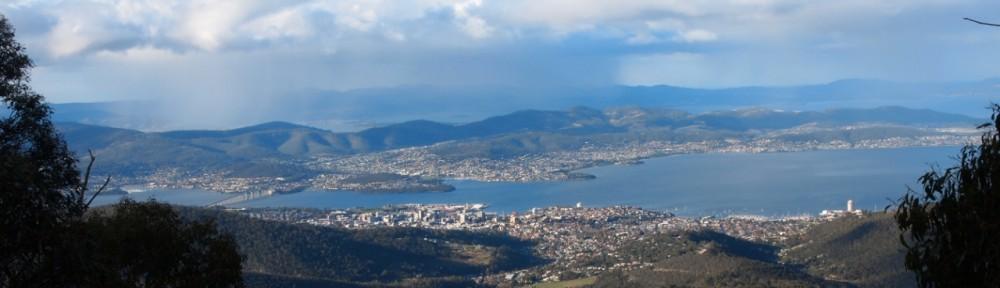Panorama Hobart Weltreise