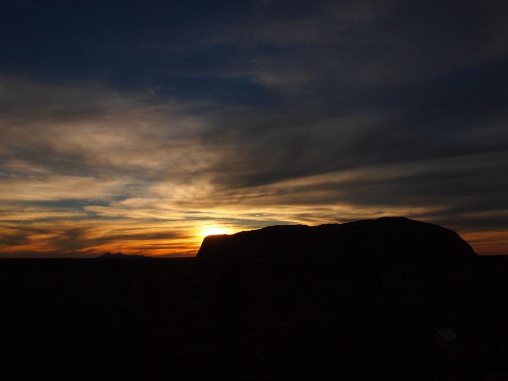 Sonnenuntergang ayers rock