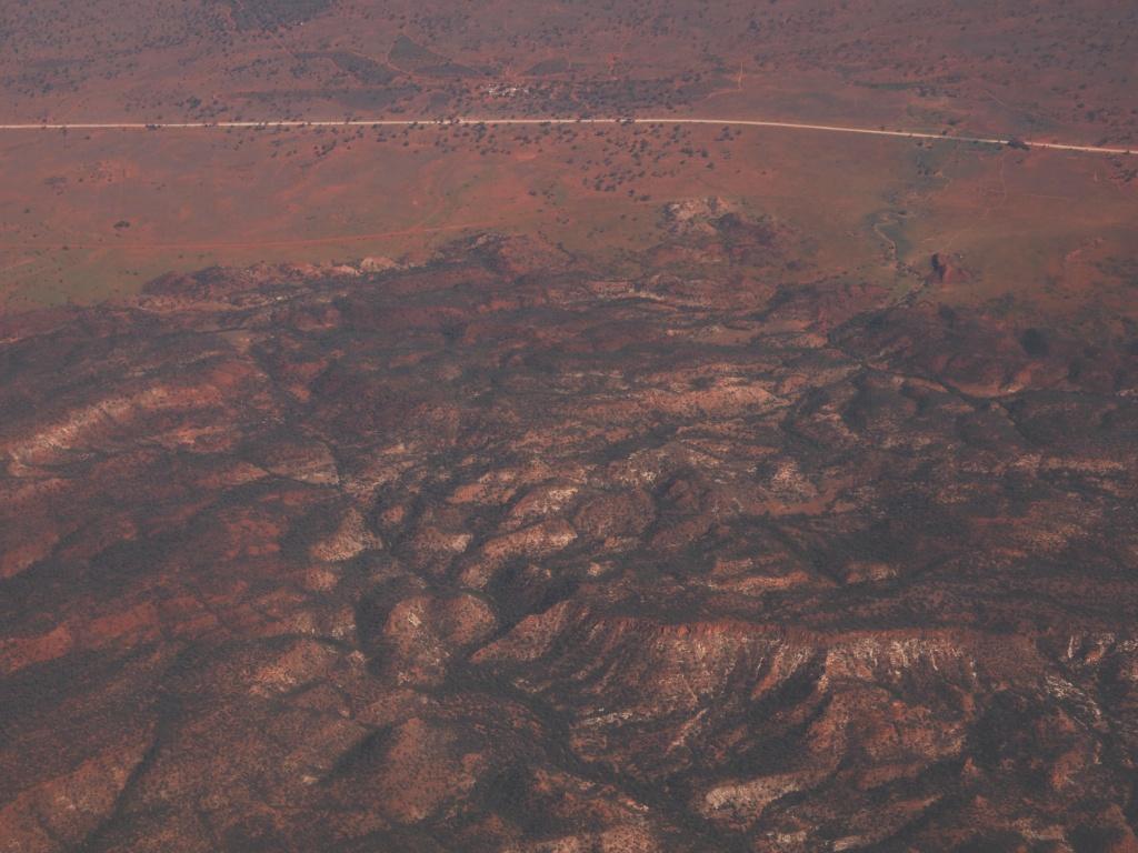 luftanicht australien outback