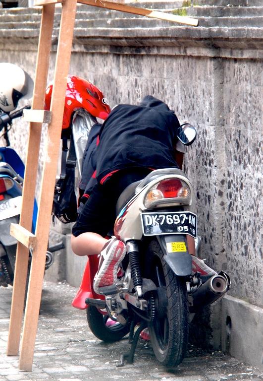 Mopedfahrer Kuta